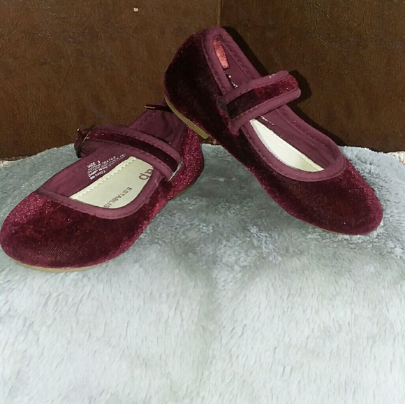 850371949408 Bordeaux Velvet Mary Jane Flats Shoes
